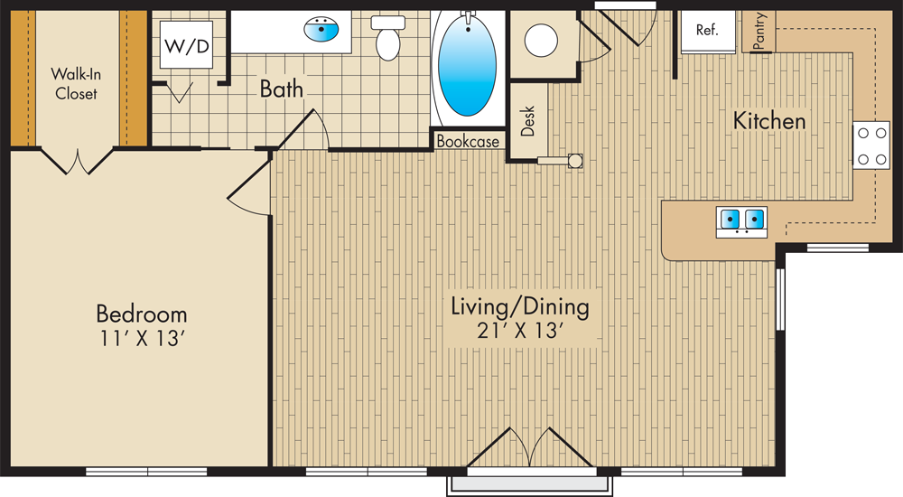 A3 713 sq. ft.